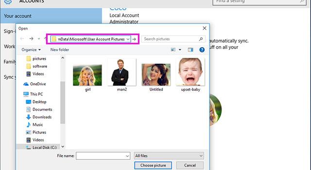 آموزش حذف تصویر پروفایل کاربر در ویندوز 10 4