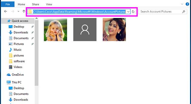 آموزش حذف تصویر پروفایل کاربر در ویندوز 10 7