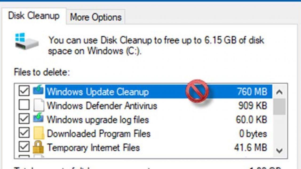 حل مشکل گیر کردن Disk Cleanup در Windows Update Cleanup - فراتیپس