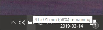 زمان باقی مانده باتری در ویندوز 10 3